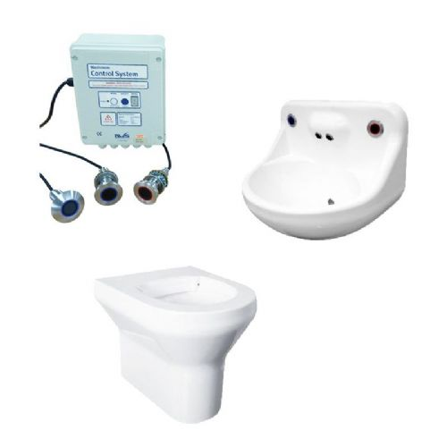 DVS Anti-Ligature High Risk Back-to-Wall Toilet & Basin Pack - Wave-On Controls